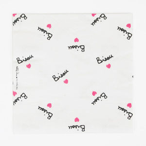 Bisou and Hearts Paper Luncheon Napkins